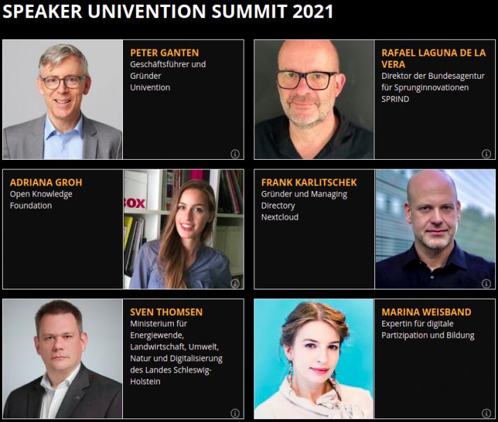 Porträtbilder und Informationen zu Speakern des Univention Summit 2021