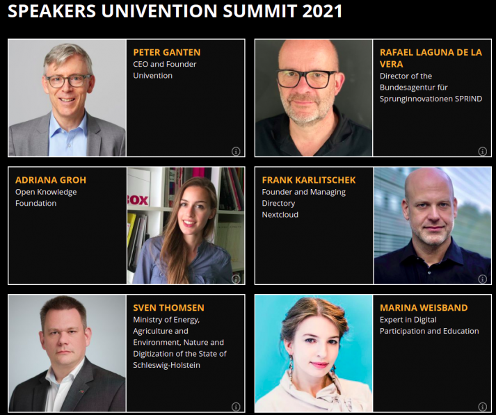 Portraits and information on some speakers of the Univention Summmit 2021