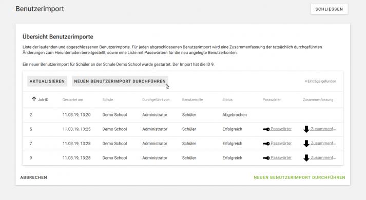 Automatisierter Import von Benutzerdaten in UCS@school