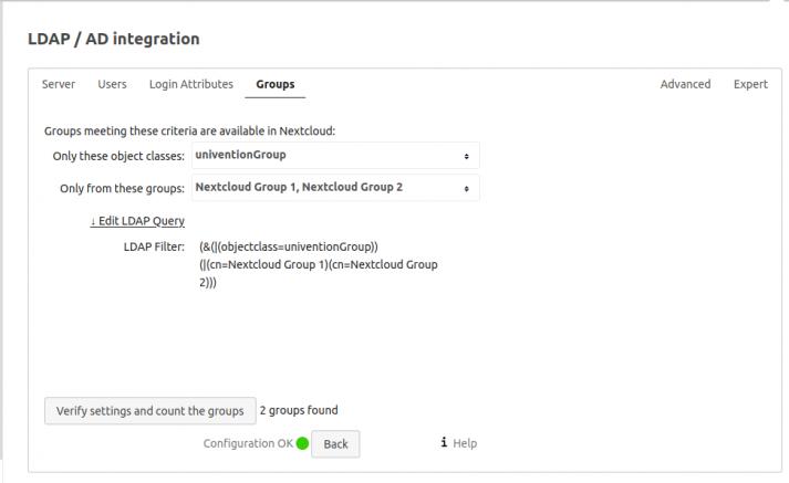 LDAP Integration Gruppen