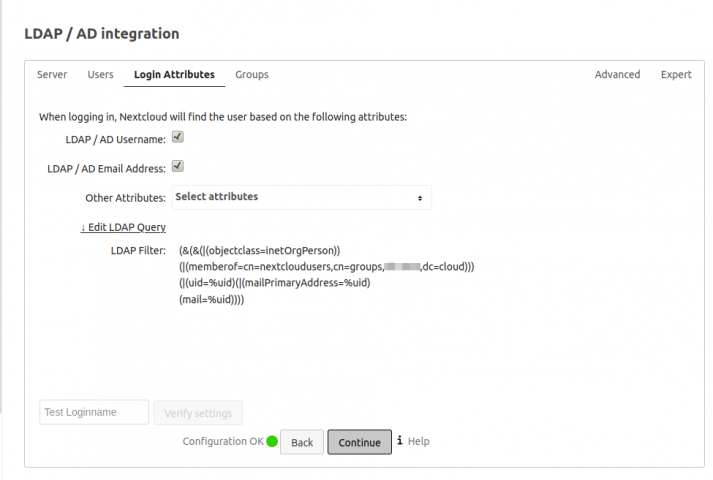 LDAP/AD Integration von Gruppen